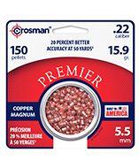 CPD22 : Copper Magnum Premier™ Domed Pellet .22 14.3 Grain - 150 Count .22
