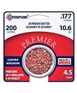 CPD77 : Copper Magnum Premier™ Domed Pellet 200 Count .177