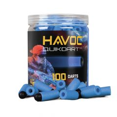 GFJBDB : GameFace Havoc Quik Darts (Blue) 100 Count Soft Tip Dart