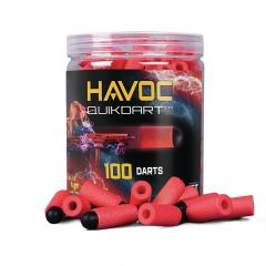 GFJBDR : GameFace Havoc Quik Dart (Red) 100 Count Soft Tip Dart