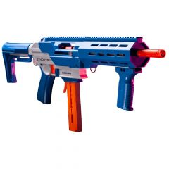 GFJBB : GameFace Prime Blaster (Blue) Spring Powered Foam Dart Blaster