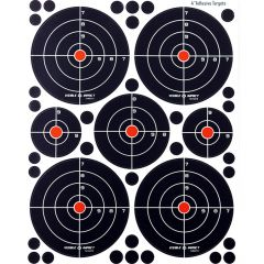 """VITC5PK : Visible Impact Targets Combo 5 pack - four 4"""", one 3"""" and two 2"""" targets"""