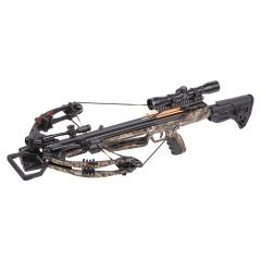 "AXCM190GCK : Mercenary 390 Compound crossbow 3 20"" arrows 4x32mm scope quiver lube sling rope cocker"