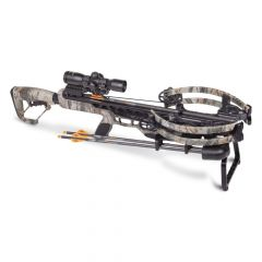 "AXCV200TPK : CP400 Compound Xbow 3x20"" carbon arrows 3x32mm scope quiver rope cocker rail lube"