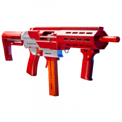 GFJBR : GameFace Prime Blaster (Red) Spring Powered Foam Dart Blaster