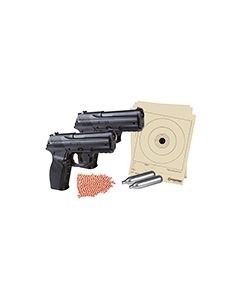 CC11KT2 : C11 DOUBLE DOWN KIT Includes two C11 Pistols, BB's, targets and two Co2 cartridges. 480FPS