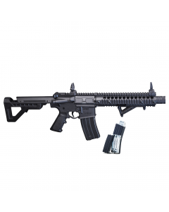 DSBR2M : DPMS SBR Full Auto (Black) CO2 Powered BB Air Rifle *SPECIAL EDITION WITH EXTRA MAGAZINE*